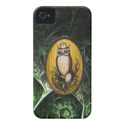 rey lindo v4 del búho funda para iPhone 4 de Case-Mate