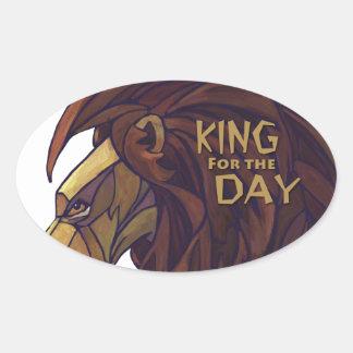 Rey Lion, rey para el pegatina del óvalo del día