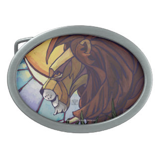 Rey Lion y Cubs Hebilla Cinturon Oval