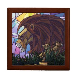 Rey Lion y Cubs Joyero Cuadrado Grande