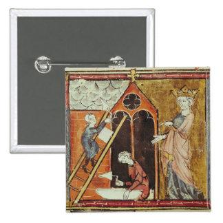 Rey Louis VI que mira la construcción de Pin