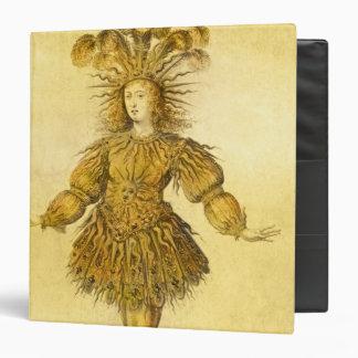 "Rey Louis XIV de Francia Carpeta 1 1/2"""