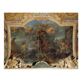 Rey Louis XIV que toma arma en tierra y encendido Postales