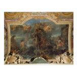 Rey Louis XIV que toma arma en tierra y encendido Tarjeta Postal