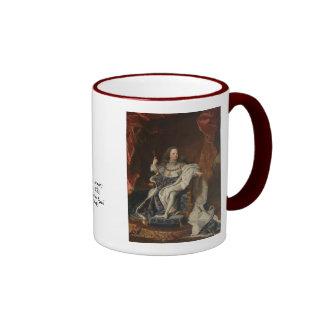 Rey Louis XV como niño de Hyacinthe Rigaud Taza A Dos Colores