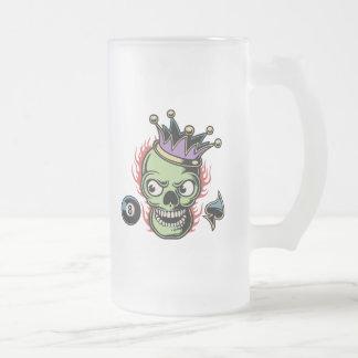Rey Lucky Skull Jarra De Cerveza Esmerilada