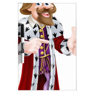 Rey Man del dibujo animado Pizarras