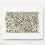 Rey maya A de Woodblock Tapetes De Raton