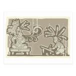 Rey maya A de Woodblock Tarjetas Postales