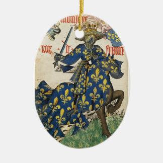 Rey medieval del ornamento de Francia Ornamento Para Reyes Magos