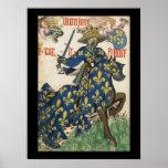 Rey medieval del poster de Francia