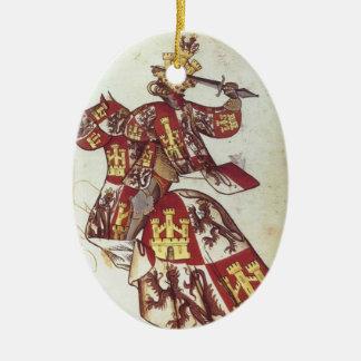 Rey medieval si ornamento del Castile Adorno De Reyes