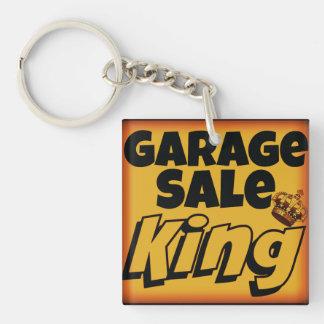 Rey Men's Keychain de la venta de garaje Llavero Cuadrado Acrílico A Una Cara