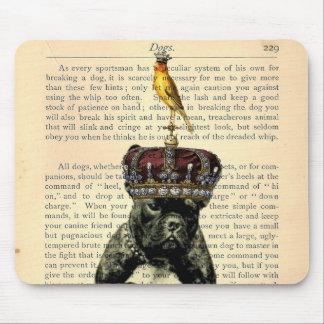 Rey Mousepad del dogo de la página del libro del v