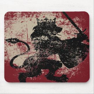 Rey Mousepad del león del Grunge Alfombrillas De Ratones