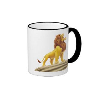 Rey Mufasa del león de Disney Taza De Dos Colores