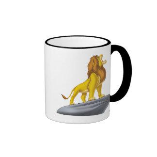 Rey Mufasa Roaring Disney del león Taza De Dos Colores