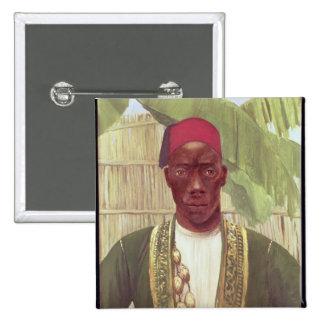 Rey Mutesa de Buganda, de una foto Pin Cuadrado