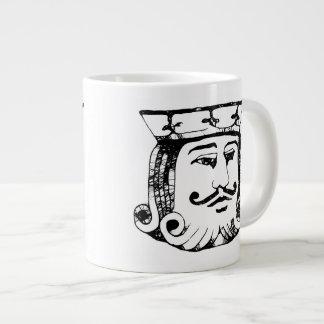 Rey negro taza grande