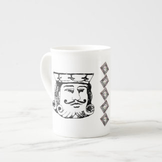 Rey negro taza de porcelana