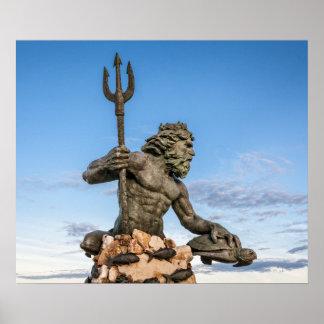 Rey Neptuno Statue Póster