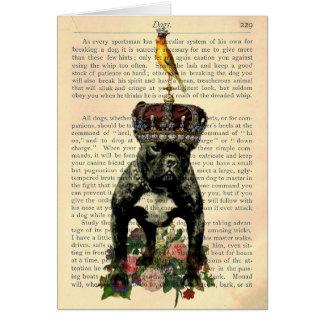 Rey Notecard del dogo francés de la página del lib Tarjeton