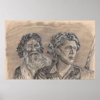 Rey Oak rey del acebo de Portia St Luke Póster