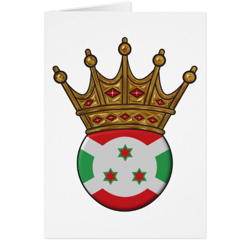 Rey Of Burundi Tarjeta De Felicitación