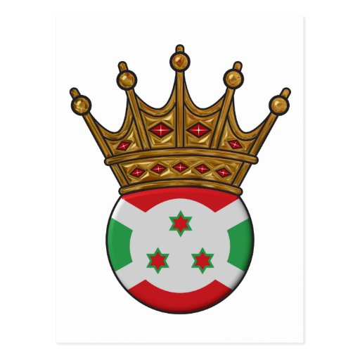 Rey Of Burundi Tarjeta Postal