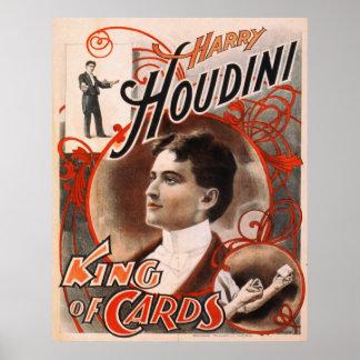 Rey Of Cards de Harry Houdini Póster