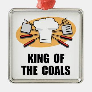 Rey Of Coals Adorno Navideño Cuadrado De Metal