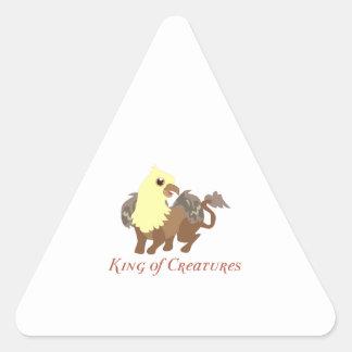 Rey Of Creatures Calcomanía De Trianguladas