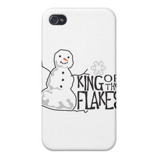 Rey Of Flakes iPhone 4 Carcasa