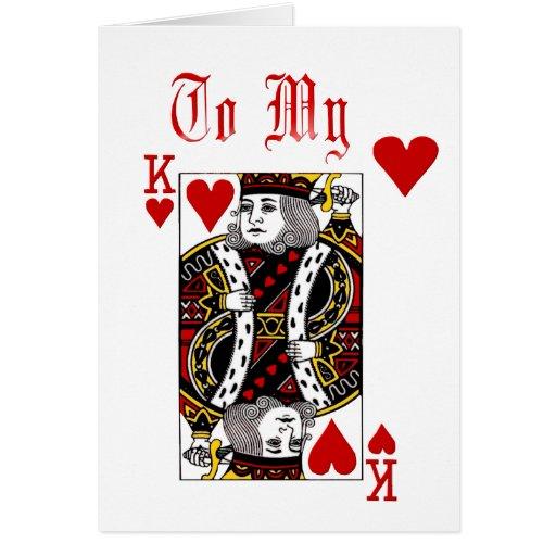 Rey Of Hearts Card Tarjeta De Felicitación