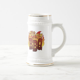 Rey Of The BBQ Beer Stein Tazas