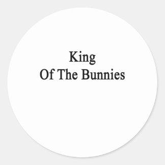 Rey Of The Bunnies Pegatina Redonda