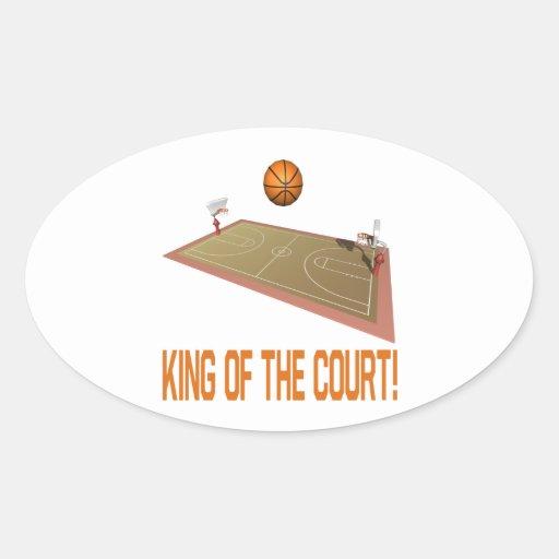 Rey Of The Court Calcomanías De Ovales Personalizadas