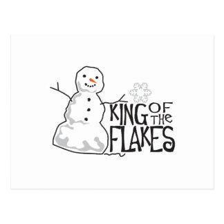 Rey Of The Flakes Tarjeta Postal