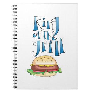 Rey Of The Grill Burger Libro De Apuntes Con Espiral