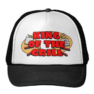 Rey Of The Grill Gorros Bordados