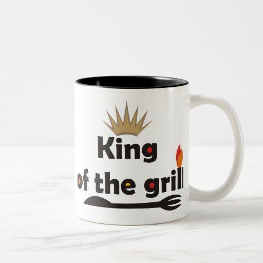 Rey Of The Grill Mug Taza Dos Tonos