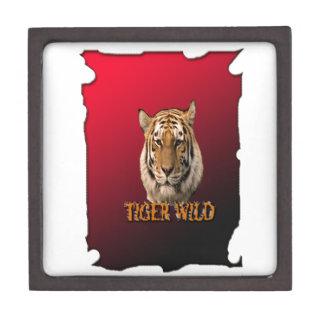 Rey Of The Jungle del tigre con el fondo Caja De Recuerdo De Calidad