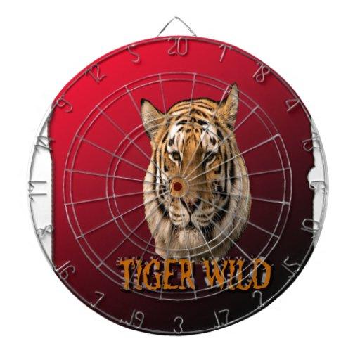 Rey Of The Jungle del tigre con el fondo Tabla Dardos