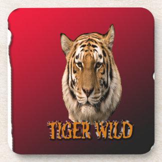 Rey Of The Jungle del tigre con el fondo Posavasos De Bebida