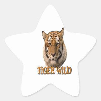 Rey Of The Jungle del tigre Pegatinas Forma De Estrella Personalizadas