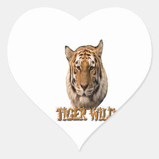 Rey Of The Jungle del tigre Calcomanía De Corazón Personalizadas