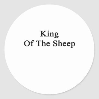 Rey Of The Sheep Pegatina Redonda