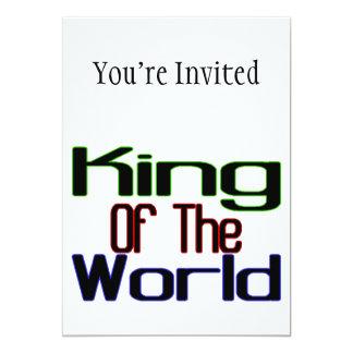 """Rey Of The World Invitación 5"""" X 7"""""""