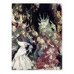 Rey Of Trolls Illustration de Arturo Rackham Postal