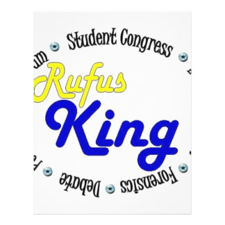 Rey oval redondo Debate/congreso/discurso de Rufus Flyer Personalizado